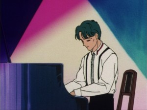 Sailor Moon episode 6 - Yusuke Amade playing the piano