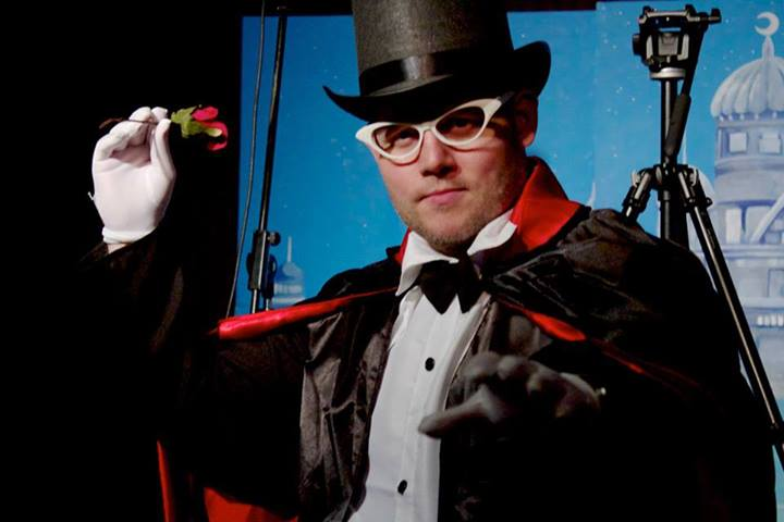 Toby Proctor dressed as Tuxedo Mask for Fan Fiction The Show Sailor Moon