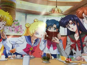 Minako, Usagi, Ami, Rei and Makoto from Sailor Moon Crystal