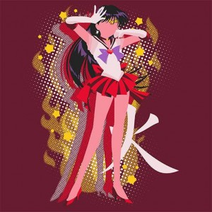 Sailor Mars shirt at Pop Up Tee