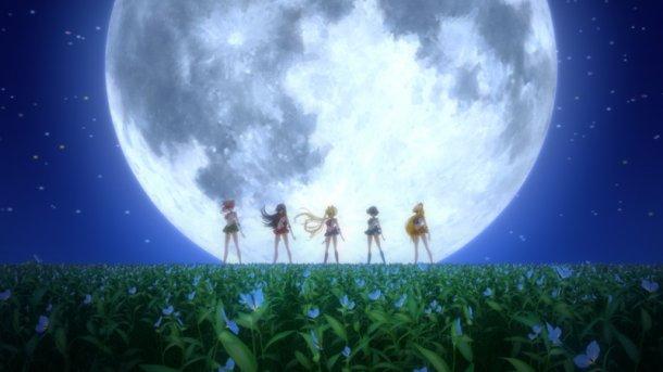Sailor Moon Crystal episode 01 - Sailor Jupiter, Mars, Moon, Mercury, Venus