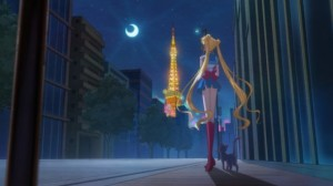 Sailor Moon Crystal episode 01 - Sailor Moon and Luna