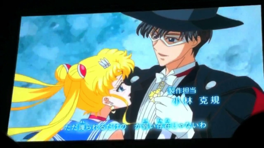 Sailor Moon Crystal episode 01 - Sailor Moon and Tuxedo Mask