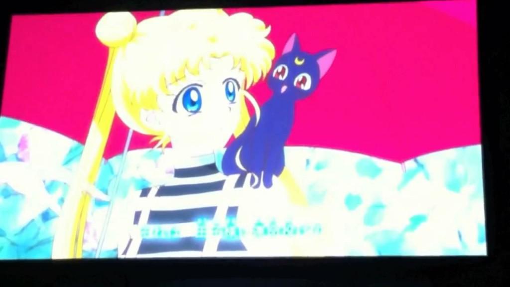 Sailor Moon Crystal episode 01 - Usagi and Luna