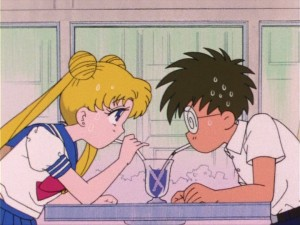 Sailor Moon episode 15 - Rei and Mamoru