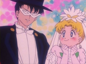 Sailor Moon episode 16 - Tuxedo Mask and Usagi getting married