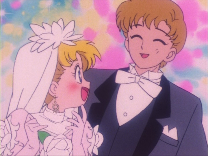 Sailor Moon episode 16 - Usagi and Motoki getting married