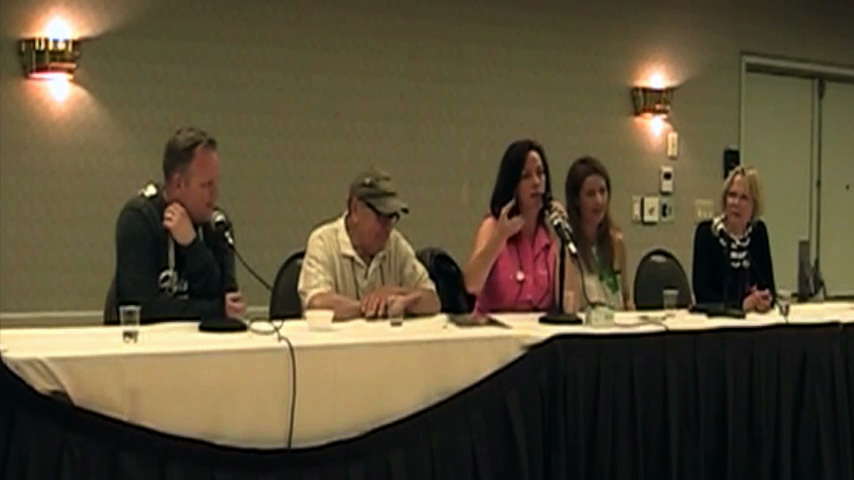 Sailor Moon Resurgent Panel at Anime North 2014 - Toby Proctor, John Stocker, Linda Ballantyne, Katie Griffin and Susan Roman