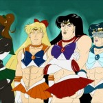 Moon Animate Make-Up! - Sailor Jupiter, Venus, Mars and Mercury as men