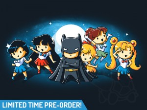 "Sailor Moon/Batman ""Love and Justice"" shirt at Tee Turtle"