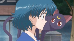 Sailor Moon Crystal Act.2 Ami - Sailor Mercury - Ami and Luna
