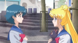 Sailor Moon Crystal Act.2 Ami - Sailor Mercury - Ami and Usagi