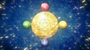 Sailor Moon's transformation sequence from Sailor Moon Crystal