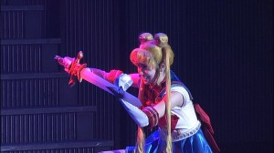 Sailor Moon La Reconquista Musical DVD - Sailor Moon with sword