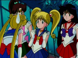 Usagi and Minako as Sailor Moon