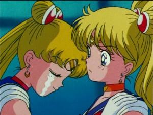 Usagi and Minako as Sailor Moon