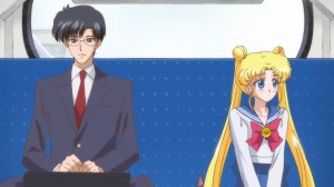 Sailor Moon Crystal Act 3, Rei - Mamoru and Usagi on the bus