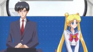Sailor Moon Crystal Act 3, Rei - Mamoru and Usagi on the bus
