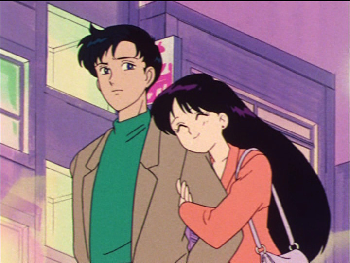 Sailor Moon episode 27 - Mamoru and Rei