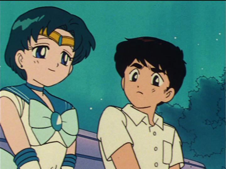 Sailor Moon episode 27 - Sailor Mercury and Ryo Urawa