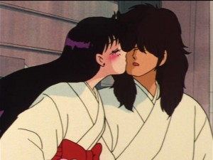 Sailor Moon episode 30 - Rei kissing Yuuichirou