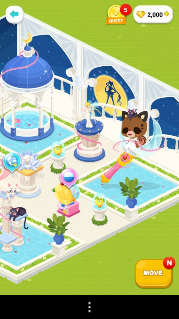Sailor Moon in Line Play - Sailor Moon Crystal room