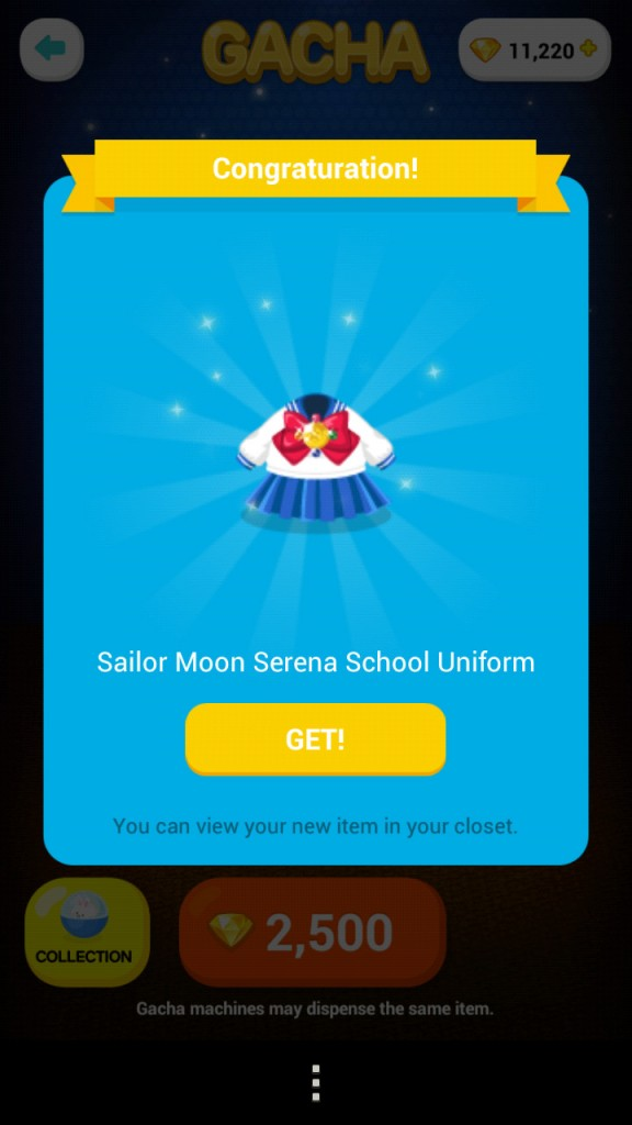 Sailor Moon in Line Play - Serena School Uniform