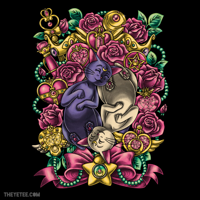The Tao of Meow Luna and Artemis shirt at The Yetee
