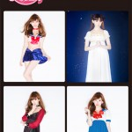 AKB48's Haruna Kojima posing in Sailor Moon x Peach John lingerie and Pyjamas