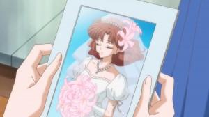 Sailor Moon Crystal Act 5 - Naru in a wedding dress