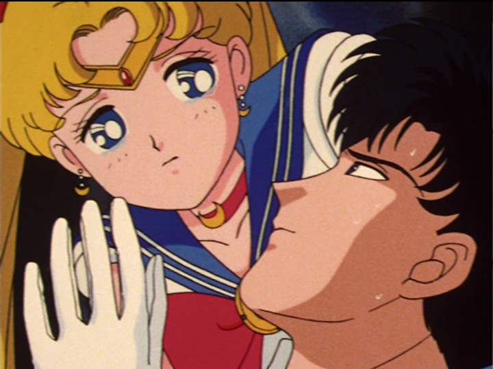 Sailor Moon episode 34 - Sailor Moon and Tuxedo Mask