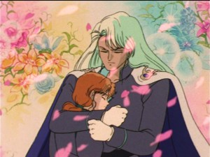 Sailor Moon episode 35 - Kunzite holding Zoisite while he dies