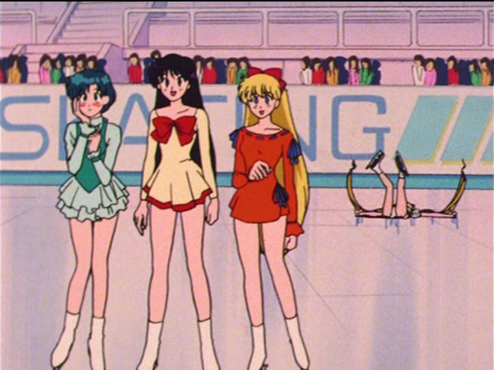 Sailor Moon episode 39 - Ami, Rei and Minako skating