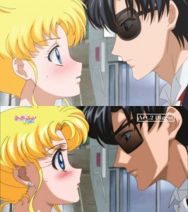 Streamed version to Blu-Ray comparison - Sailor Moon Crystal Act 2 - Usagi and Mamoru