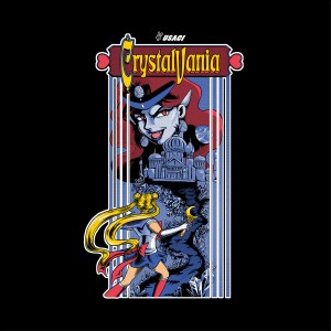 Crystalvania Sailor Moon/Castlevania shirt at Shirt Punch