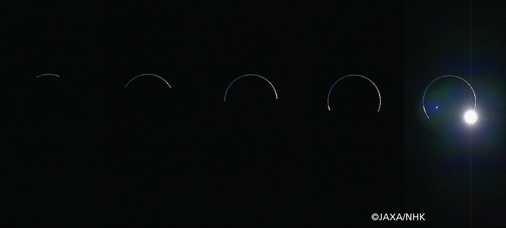 Lunar eclipse as seen from the Moon