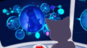 Sailor Moon Crystal Act 7 - Luna clearly talking to Sailor V