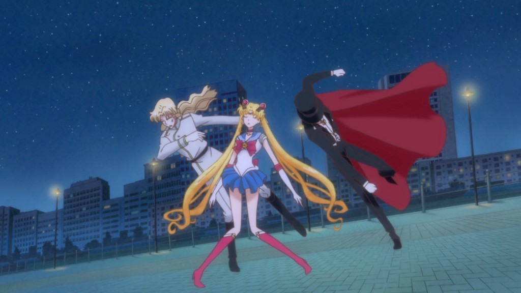 Sailor Moon Crystal Act 7 - Tuxedo Mask punches Zoisite
