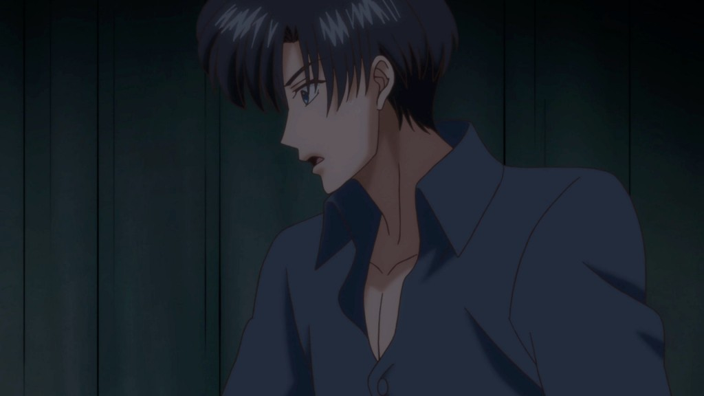 Sailor Moon Crystal Act 8 - Mamoru wearing a shirt in bed is lame