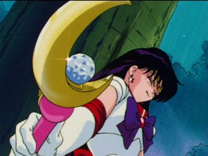 Sailor Moon episode 43 - Sailor Mars with the Moon Stick