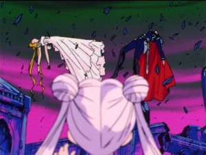 Sailor Moon episode 44 - Princess Serenity and Prince Endymion dying