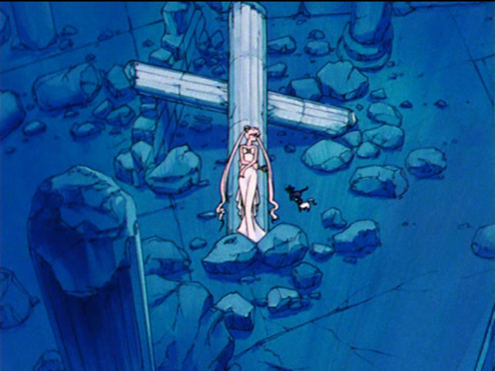 Sailor Moon episode 44 - Queen Serenity is Jesus