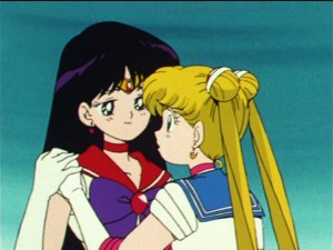 Sailor Moon episode 45 - Sailor Mars and Sailor Moon