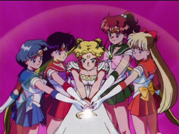 Sailor Moon episode 46 - The Sailor Team face off against Beryl
