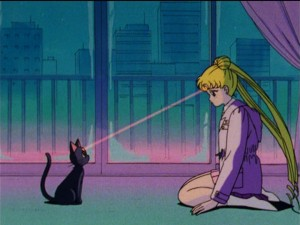Sailor Moon episode 47 - Luna giving Usagi her memories back