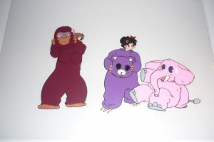 Sailor Moon cel - Fur suits