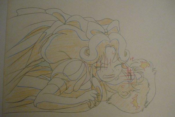 Sailor Moon Cel - Natsumi and Mamoru - Pencil