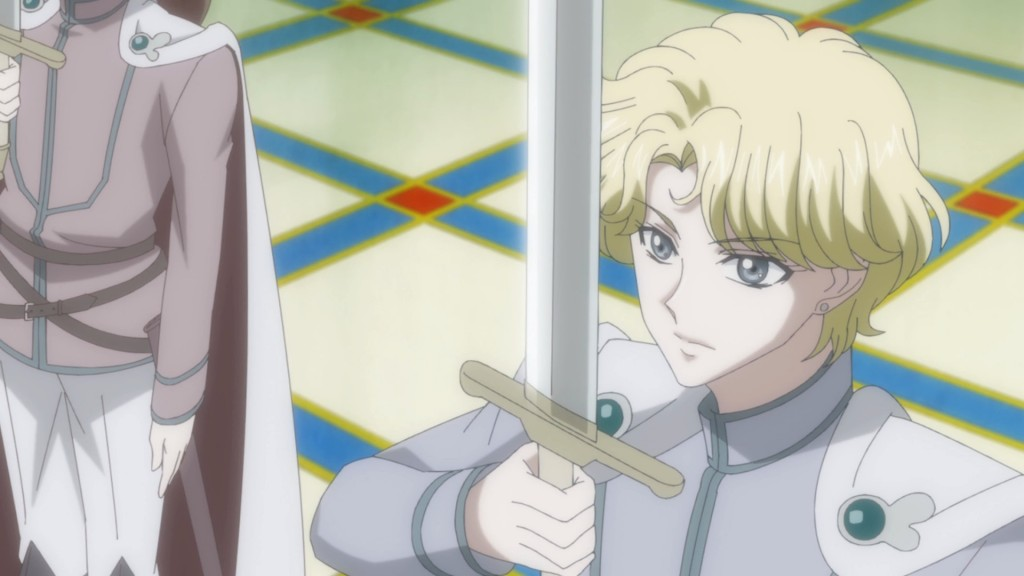 Sailor Moon Crystal Act 10 - Jadeite with a cape and sword