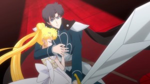 Sailor Moon Crystal Act 10 - Prince Endymion protecting Princess Serenity