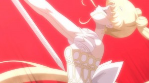 Sailor Moon Crystal Act 10 - Princess Serenity taking her own life with Prince Endymion's sword